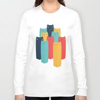cats Long Sleeve T-shirts featuring Cats by Volkan Dalyan