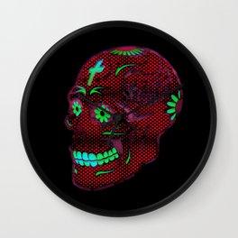 Grunge Skull Wall Clock