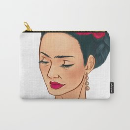 Frida Khalo Illustration by Patricia Falls Carry-All Pouch