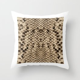 Snake Skin Pattern Seemless Reptile Style Fan Gift Throw Pillow