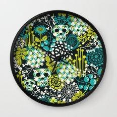 Flowers on the head. Wall Clock