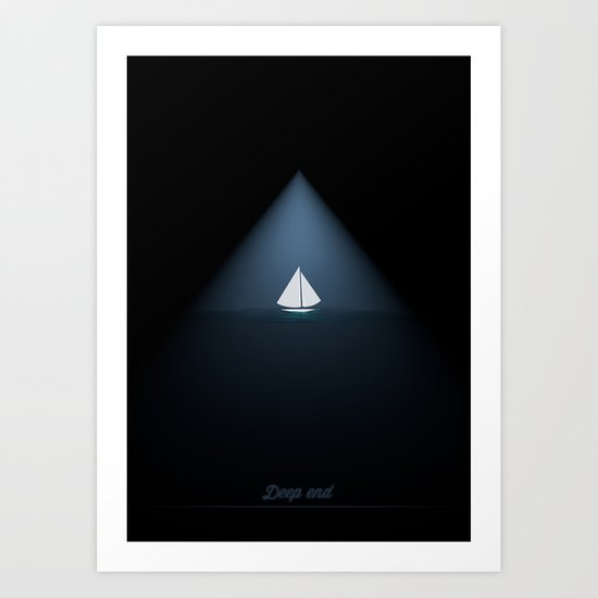 Deep end Art Print