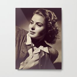 Ingrid Bergman, Hollywood Legend Metal Print
