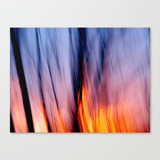 Out of the Blue into the Fire #I Canvas Print