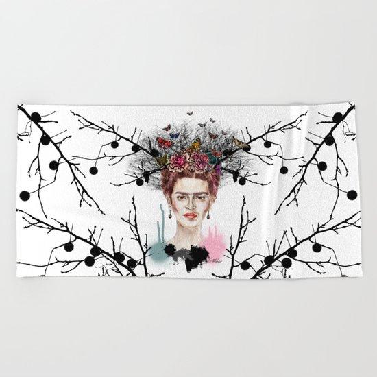 The Little Deer - Frida Kahlo Beach Towel