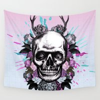 rush Wall Tapestries featuring Head Rush 1 by Ginger Pigg Art & Design