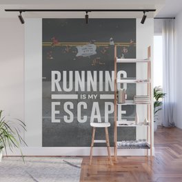 Running Is My Escape Wall Mural