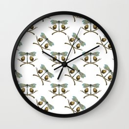 Dragonfly & Acorns Wall Clock