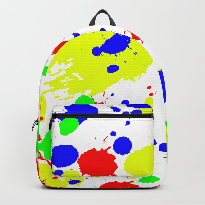 Colorful Paint Splatter. Rucksack