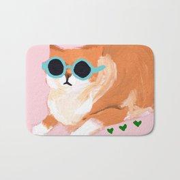 sunglass cat Bath Mat