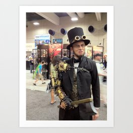 Steampunk Abraham Lincoln Vampire Hunter Art Print