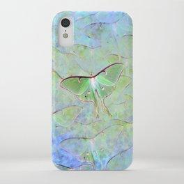 Glowing Luna Moth iPhone Case