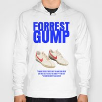 forrest gump Hoodies featuring Forrest Gump Movie Poster by FunnyFaceArt