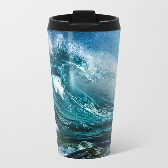 Waves MIX Metal Travel Mug