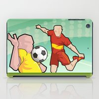 soccer iPad Cases featuring Soccer game by Caetanorama Art Studio