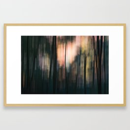 Abstract forest (ICM photography) Framed Art Print