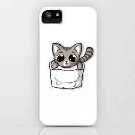 Cute Gray Pocket Cat iPhone Case
