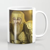 warcraft Mugs featuring Scowl by Georgia Goddard