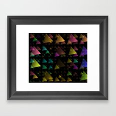 Drifting Triangles Framed Art Print