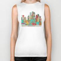 minneapolis Biker Tanks featuring Minneapolis city  by bri.buckley