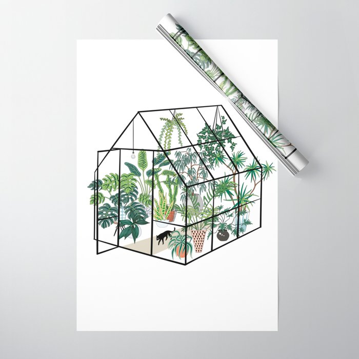 greenhouse with plants Wrapping Paper