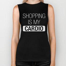 Shopping is my Cardio Biker Tank