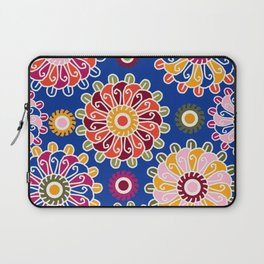 Optical Floral royal blue Laptop Sleeve