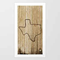 texas Art Prints featuring Texas by Travis Weerts