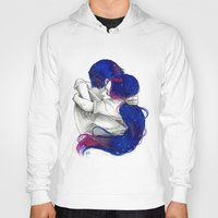 lovers Hoodies featuring Lovers by Sahra Draws