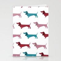 dachshund Stationery Cards featuring Dachshund by PaperDog