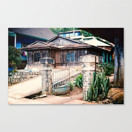 WOODEN HOUSE IN CAU DAT Canvas Print
