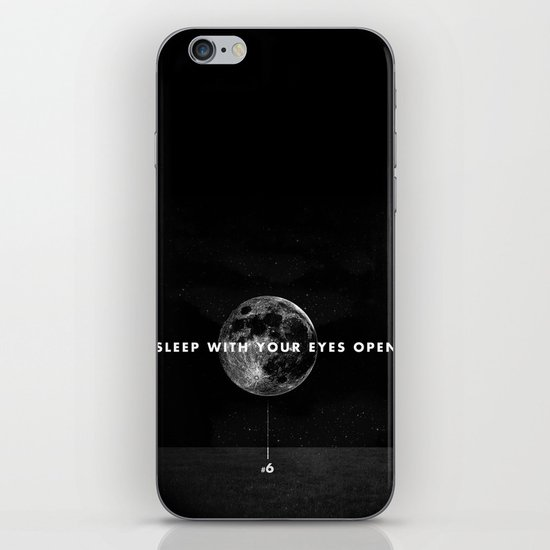 Sleep With Your Eyes Open iPhone & iPod Skin