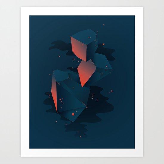 Crystalized Matter Art Print