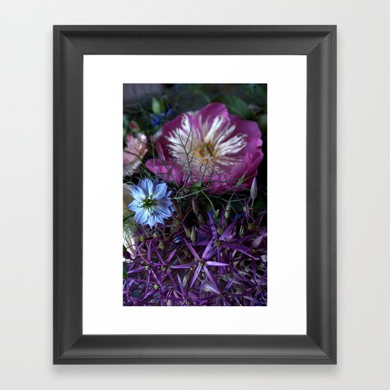 Purple Love Clusters Framed Art Print