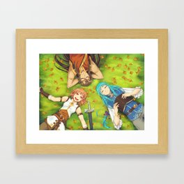 Autumn's Journey - on the grass Framed Art Print