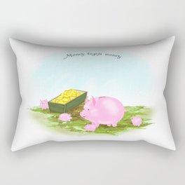 Piggy Bank Family Rectangular Pillow