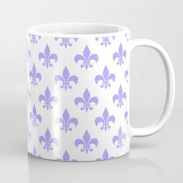 Vintage blue lilac white stylish fleur de lys pattern Coffee Mug