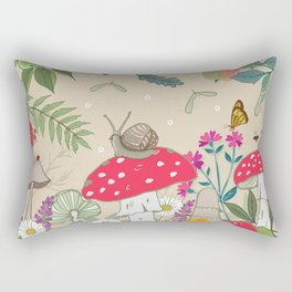 Toadstools in the Woods Rectangular Pillow
