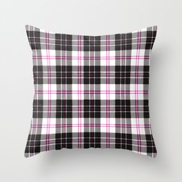 Rustic Plaid Pattern: Pink Throw Pillow