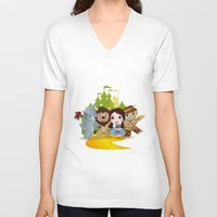 oz V-neck T-shirts featuring Oz by 7pk2 online