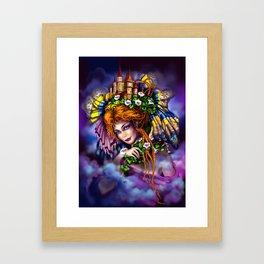 Fairy love and magic Framed Art Print