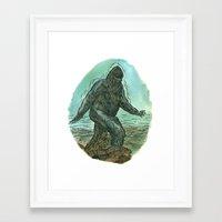 sasquatch Framed Art Prints featuring Sasquatch by Samantha Bryanne