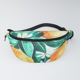 Orange flower watercolor Fanny Pack