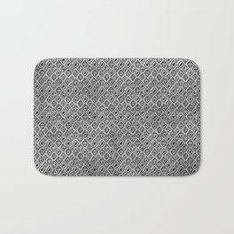60s -Black abstract pattern on concrete -Mix&Match with Simplicty of life Bath Mat