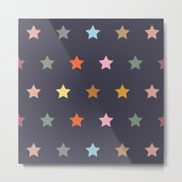 colors stars pattern 2 Metal Print