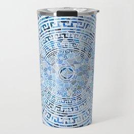 Circular Greek Meander Pattern - Greek Key Ornament Travel Mug