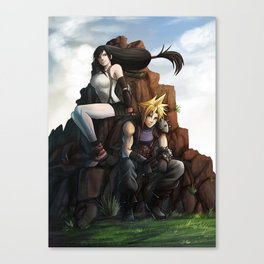 Tifa and cloud Canvas Print