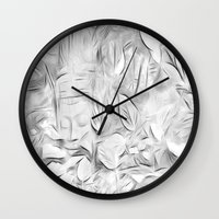 meditation Wall Clocks featuring Meditation by Dorothy Pinder