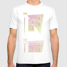 I NEED TO PAY RENT BUT I NEED CAPITALISM TO END White MEDIUM Mens Fitted Tee