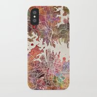 sydney iPhone & iPod Cases featuring Sydney by MapMapMaps.Watercolors